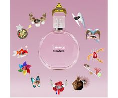 Chanel Chance, perfume. Animated perfume bottle. Gif design in emails.