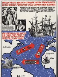 Political Posters, Labadie Collection, University of Michigan: English pirates began to conquer the sea trade routes so that English merchants could expand their business