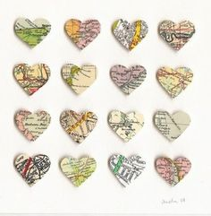 Decore from old maps, a nice keepsake from road trips! #travel #DIY