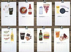 Beer/Food 2013 Calendar   Cool Material