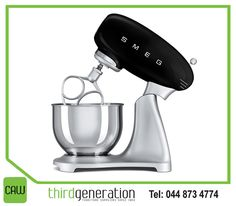 This #Smeg stand mixer is the perfect combination of quality, technology, style and design. Get yours from #ThirdGenerationCAW.