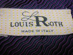 Louis Roth Necktie Made in Italy Pink Blue Men's Neck Tie 100% Silk   #LouisRoth #Tie