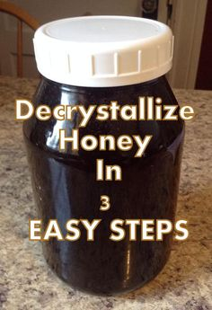How To Easily Decrystallize Honey In 3 Easy Steps. - This is SO easy to do!!! No more throwing out honey - Parsnips and Parsimony