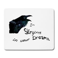 Raven-Spirit is there to show you your future. Do you dare to look in his eyes? #raven #dreams #mystery #mousepad