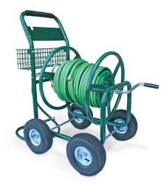 Liberty Garden Products 872-2 Residential 350-Foot Capacity Four Wheel Steel Garden Hose Reel Cart Green at http://suliaszone.com/liberty-garden-products-872-2-residential-350-foot-capacity-four-wheel-steel-garden-hose-reel-cart-green/