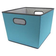 Room Essentials Large Tapered Bin Blue Set of 2