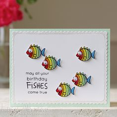 Simon Says Clear Stamps BEST FISHES Best Picture For DIY Birthday Cards for sister For Your Taste You are looking for something, and it is going to tell you exactly what you are looking for, Homemade Birthday Cards, Kids Birthday Cards, Diy Birthday, Creative Birthday Cards, Funny Birthday, Simple Birthday Cards, Happy Birthday Handmade Cards, Birthday Quotes, Homemade Cards For Men