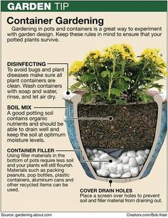 Container gardening is great for patios and small spaces.  The key is to properly prepare the container.  #gardening #container #pots http://menloparkmartialarts.com