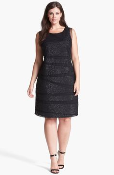 Patra Beaded Mesh Sheath Dress (Plus Size) | Nordstrom