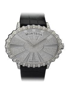 Montre Montega - Elie Chatila, or blanc, diamants, EC 103.08