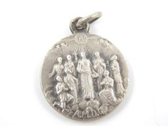 Vintage French North American Martyrs Catholic Medal - c1930