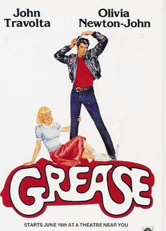 Grease starring John Travolta and Olivia Newton-John Film Musical, Film Movie, Classic Movie Posters, Classic Movies, Alfred Hitchcock, Jurassic Park, Grease Movie, Grease 1978, Grease Theme
