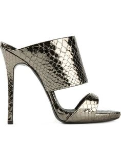 Shop Giuseppe Zanotti Design double strap mules in Tessabit from the world's best independent boutiques at farfetch.com. Over 1000 designers from 300 boutiques in one website.