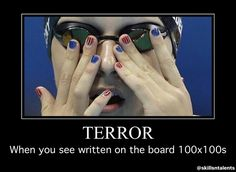 or flys, repeat with back, repeat with breast, and then easy between. :me trying to wipe my tears Competitive Swimming, Swimming Sport, Swimming Diving, Keep Swimming, Swimming Memes, Swim Quotes, Swimmer Problems, Find Your Strengths, Swim Team