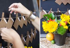 Ali Landry Baby Shower-- baby wishes board that doubles as a gift for mom and baby