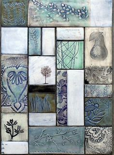 Dotti Potts Pottery-Pottery, fashion jewellery, earrings and rings Clay Wall Art, Ceramic Wall Art, Tile Art, Slab Pottery, Ceramic Pottery, Pottery Art, Ceramic Plates, Ceramics Projects, Clay Projects