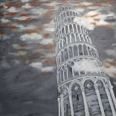 Original Cities Painting by Nicole Theresia Spitzwieser Wood Canvas, Canvas Art, Original Art, Original Paintings, Photorealism, Art Oil, Abstract Expressionism, Pisa, Painting On Wood