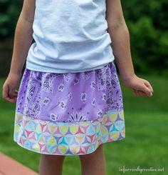 Easy Summer Sew // DIY Girls Bandana Skirt from Joann.com/blog