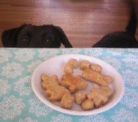 DIY cheesy dog treats.