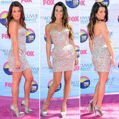 WANT - Versace mini - so flirty and fun -  Lea Michele at Teen Choice Awards 2012