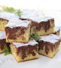 Prajitura marmorata - Desert De Casa - Maria Popa Beverages, Drinks, Cake Cookies, Wine Recipes, Goodies, Food And Drink, Sweets, Cooking, Desserts
