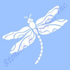 """4"""" DRAGONFLY STENCIL TEMPLATE pattern background bug wings craft paint art transparent blue 7 mil templates pochoir new free shipping by StencilsAndCraftsInc on Etsy https://www.etsy.com/listing/251788185/4-dragonfly-stencil-template-pattern"""