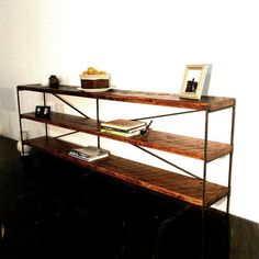 Reclaimed Wood Bookcase Custom Dimensions Available by robrray, $1075.00  For behind the sectional...