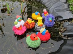 I'd like to see... a fountain full of rubber duckies in crochet sweaters. #yarnbombing