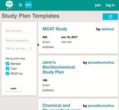 MCAT Study Plan Template Collection https://www.mcat.me/studyplans/