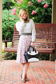 GlamGrace.com Dressy outfit, pink and leopard, kate spade