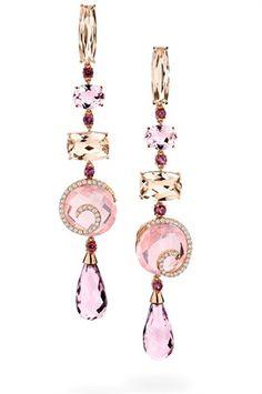 BRUMANI | Rose Gold Gem Earrings | {ʝυℓιє'ѕ đιåмσиđѕ&ρєåɾℓѕ}