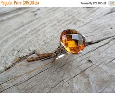 ON SALE Beautiful handmade Madeira citrine ring in by Billyrebs