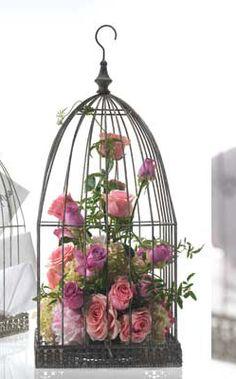 Metal Birdcage centerpieces