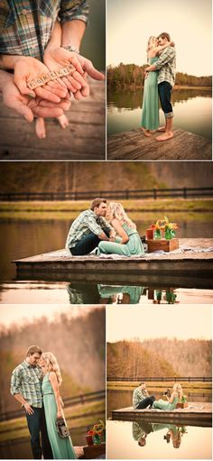 engagement shots- love these water shots