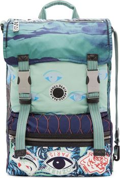 Kenzo Mint Signature Prints Urban Backpack