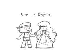 Steven Universe Ruby + Sapphire = Garnet