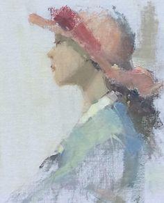 Fille de Provence by Nancy Franke Oil ~ 14 x 11