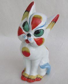 Vintage Ditmar Urbach Czech Bohemian Art Deco Pottery Cat Figurine in Pottery & Glass, Pottery & China, Art Pottery | eBay!
