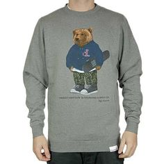 2d6181bf150 Diamond Supply Co x Grizzly Grip Tape Bear White Crew Neck Sweatshirt