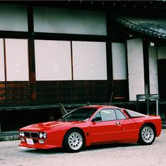 Lancia 037 stradale.  Roll up to a classic car meet in one of these!