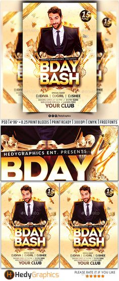 Birthday Party Flyer Template PSD Flyer Templates Pinterest - birthday flyer template