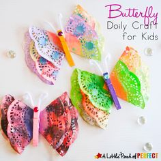 Butterfly Doily Craft
