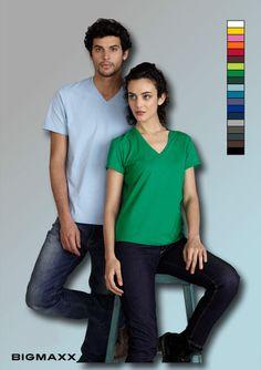 KARIBAN Herren Kurzarm T-Shirt mit V-Ausschnitt, V-Neck alle Farben bis Gr. 4XL