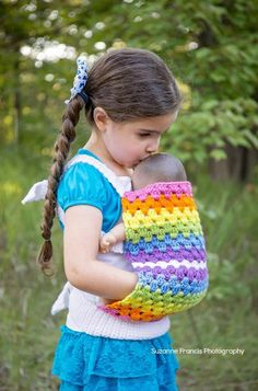 Ravelry: Mini-Mom Babydoll Carrier pattern by Kimberlie Goodnough) and wear their babies close to their heart.Have you been seeking information about free crochet doll patterns Crochet Doll Clothes, Doll Clothes Patterns, Doll Patterns, Knitted Dolls, Crochet Gifts, Crochet Toys, Crochet Baby, Free Crochet, Free Knitting