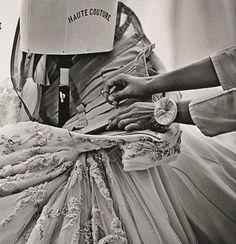 Dior haute couture BTS corset construction