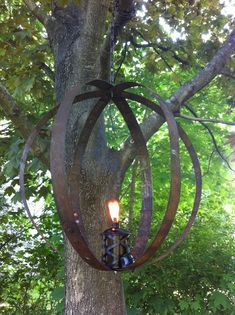 Garden Orb from Reclaimed Whiskey Barrel Rings by CaskCreations, $99.00
