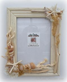 Seaside Shabby Chic Picture Frame by A2SeaCreations on Etsy