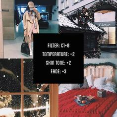 VSCOCAM Filter: C1+8 Temperature: -2 Skin Tone: +2 Fade: +3 Christmas filter!⛄️ #vsco#vscocam#vscofilter