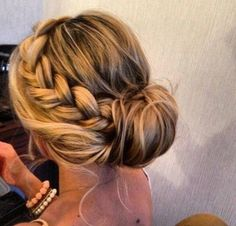 Braid, up style, up do, bun, soft, waves