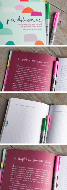 "Just Between Us: Using a Mother-Daughter Journal To Talk With Your Tween ""We are absolutely loving these journal prompts"". #Parenting #Communication #Journaling"